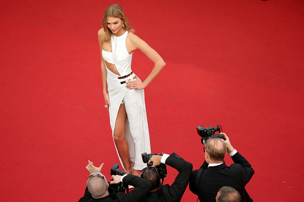 """CANNES, FRANCE – MAY 13:  Karlie Kloss attends the opening ceremony and premiere of """"La Tete Haute"""" (""""Standing Tall"""") during the 68th annual Cannes Film Festival on May 13, 2015 in Cannes, France.  (Photo by Neilson Barnard/Getty Images)"""