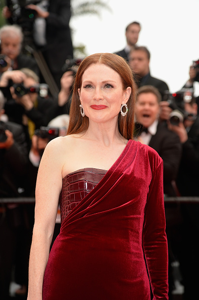 """CANNES, FRANCE – MAY 14:  Julianne Moore attends Premiere of """"Mad Max: Fury Road"""" during the 68th annual Cannes Film Festival on May 14, 2015 in Cannes, France.  (Photo by Pascal Le Segretain/Getty Images)"""