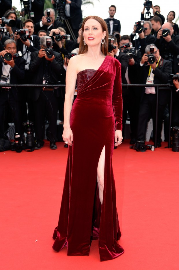 """CANNES, FRANCE - MAY 14:  Julianne Moore attends Premiere of """"Mad Max: Fury Road"""" during the 68th annual Cannes Film Festival on May 14, 2015 in Cannes, France.  (Photo by Pascal Le Segretain/Getty Images)"""