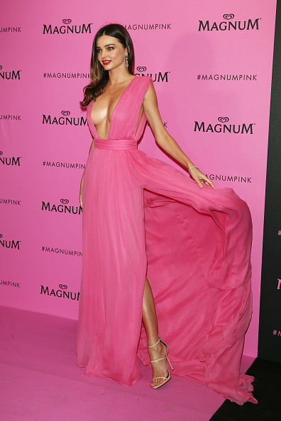 CANNES, FRANCE – MAY 14:  Miranda Kerr attends the Magnum 'Pink and Black' party  during the 68th annual Cannes Film Festival on May 14, 2015 in Cannes, France.  (Photo by Andreas Rentz/Getty Images)