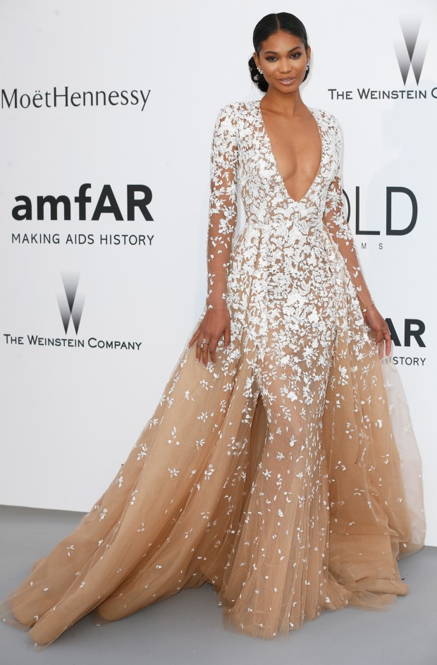Look do dia Cannes Amfar: Chanel Iman