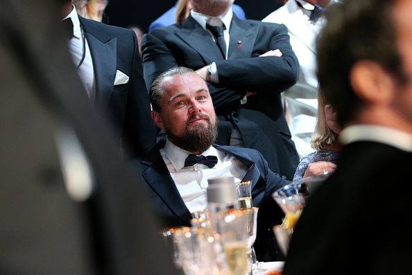 CAP D'ANTIBES, FRANCE – MAY 21: Actor Leonardo DiCaprio attends amfAR's 22nd Cinema Against AIDS Gala, Presented By Bold Films And Harry Winston at Hotel du Cap-Eden-Roc on May 21, 2015 in Cap d'Antibes, France.  (Photo by Gisela Schober/Getty Images)