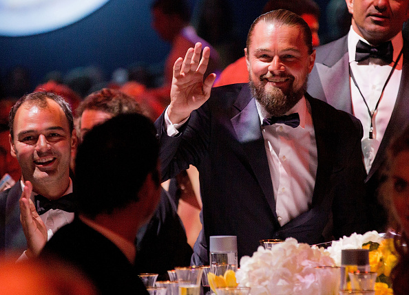 CAP D'ANTIBES, FRANCE – MAY 21:  Leonardo DiCaprio attends dinner for the amfAR 22nd Annual Cinema Against AIDS Gala at Hotel du Cap-Eden-Roc on May 21, 2015 in Cap d'Antibes, France.  (Photo by Kevin Tachman/amfAR15/WireImage)