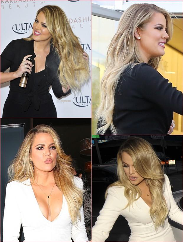 khloe kardashian cabelo