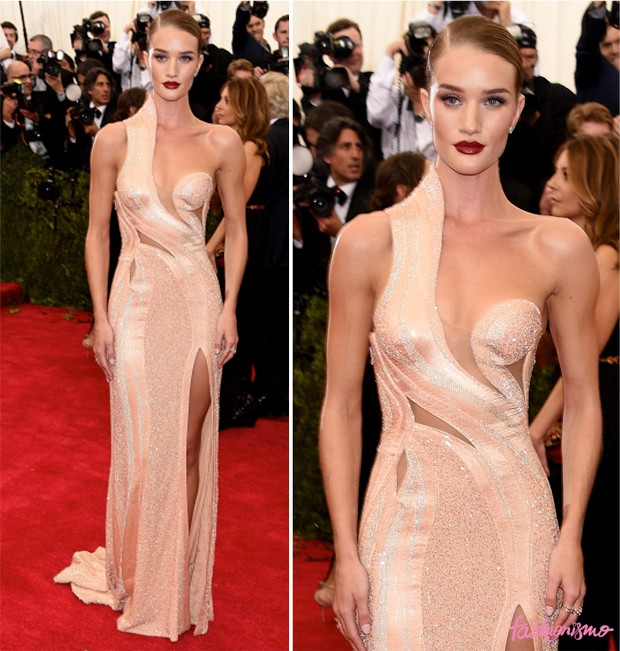 rosie huntington whiteley met gala