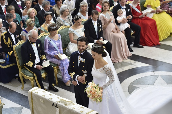 Sofia Hellqvist (R) and Sweden's Prince Carl Philip stand at the alter during their wedding ceremony at the Royal Chapel in Stockholm Palace on June 13, 2015. AFP PHOTO / TT NEWS AGENCY /  JONAS EKSTRÖMER  SWEDEN OUT        (Photo credit should read JONAS EKSTROMER/AFP/Getty Images)