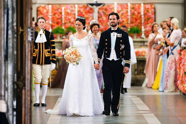 STOCKHOLM , SWEDEN – JUNE13: Prince Carl Philipand Princess Sofia Of Swedendepart the Royal Palace Chapel on June13, 2015 in Stockholm, Sweden. (Photo Luca Teuchmann/WireImage)