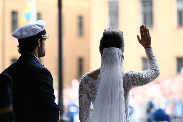 STOCKHOLM, SWEDEN – JUNE 13:  Prince Carl Philip of Sweden is seen with his new wife Princess Sofia of Sweden after their marriage ceremony on June 13, 2015 in Stockholm, Sweden.  (Photo by Andreas Rentz/Getty Images)