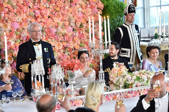 STOCKHOLM, SWEDEN – JUNE 13:  King Carl Gustaf gives a speech during the marriage ceremony for Prince Carl Philip of Sweden and his new wife Princess Sofia of Sweden at The Royal Palace on June 13, 2015 in Stockholm, Sweden.  (Photo by Jonas Ekströmer – Pool /Getty Images)