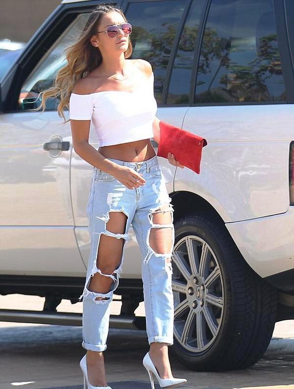 Calça rasgada | Fashionismo
