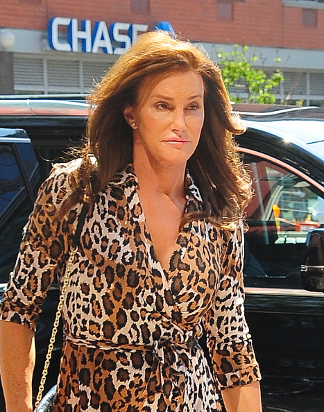 NEW YORK, NY – JUNE 30:  Caitlyn Jenner is seen coming out of  Patricia Field store in New York City on June 30, 2015 in New York City.  (Photo by Raymond Hall/GC Images)