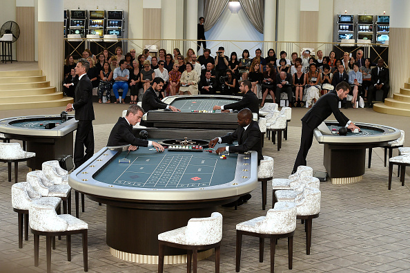 PARIS, FRANCE – JULY 07:  Casino at  Chanel Autumn Winter 2015 fashion show during Paris Haute Couture Fashion Week on July 7, 2015 in Paris, France.  (Photo by Catwalking/Getty Images)