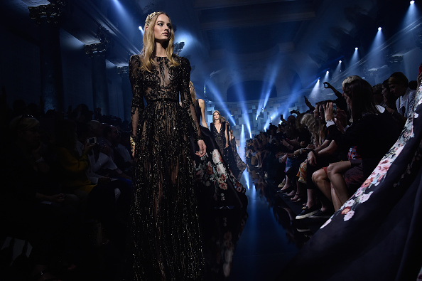 PARIS, FRANCE – JULY 08:  Models walk the runway during the Elie Saab show as part of Paris Fashion Week Haute Couture Fall/Winter 2015/2016 on July 8, 2015 in Paris, France.  (Photo by Pascal Le Segretain/Getty Images)