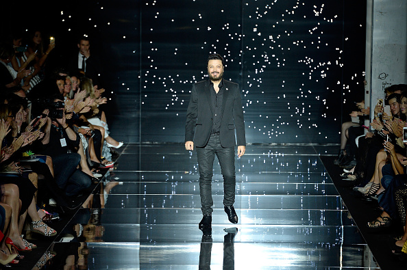 PARIS, FRANCE – JULY 09:  Designer Zuhair Murad acknowledges the audience during the Zuhair Murad show as part of Paris Fashion Week Haute Couture Fall/Winter 2015/2016 on July 9, 2015 in Paris, France.  (Photo by Kristy Sparow/Getty Images)