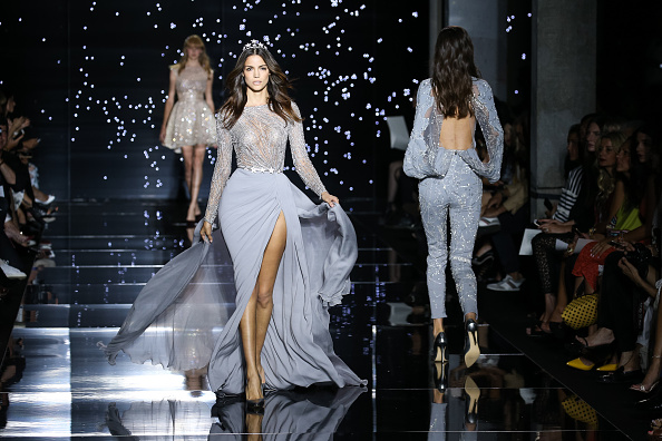 PARIS, FRANCE – JULY 09:  A model walks the runway during the Zuhair Murad  show as part of Paris Fashion Week Haute Couture Fall/Winter 2015/2016 on July 9, 2015 in Paris, France.  (Photo by Richard Bord/WireImage)