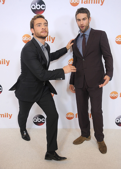 BEVERLY HILLS, CA – AUGUST 04:  Actors Ed Westwick and Chace Crawford arrive at the Disney ABC Television Group's 2015 TCA Summer Press Tour on August 4, 2015 in Beverly Hills, California.  (Photo by Gregg DeGuire/WireImage)