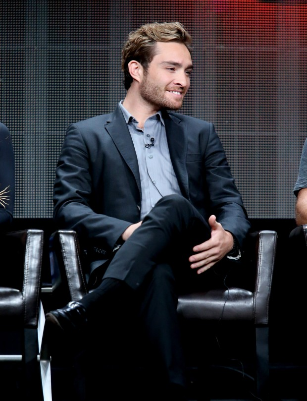speaks onstage during the 'Wicked City' panel discussion at the ABC Entertainment portion of the 2015 Summer TCA Tour at The Beverly Hilton Hotel on August 4, 2015 in Beverly Hills, California.