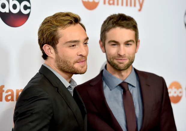 BEVERLY HILLS, CA - AUGUST 04:  Actors Ed Westwick (L) and Chace Crawford attend Disney ABC Television Group's 2015 TCA Summer Press Tour at the Beverly Hilton Hotel on August 4, 2015 in Beverly Hills, California.  (Photo by Alberto E. Rodriguez/Getty Images)