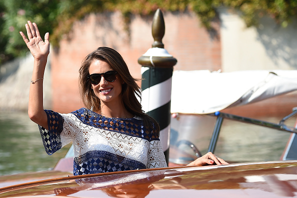 is seen on day 1 of the 72nd Venice Film Festival on September 2, 2015 in Venice, Italy.