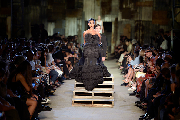 NEW YORK, NY - SEPTEMBER 11:  A model walks the runway at the Givenchy Spring Summer 2016 fashion show during New York Fashion Week on September 11, 2015 in New York, United States.  (Photo by Catwalking/Getty Images)