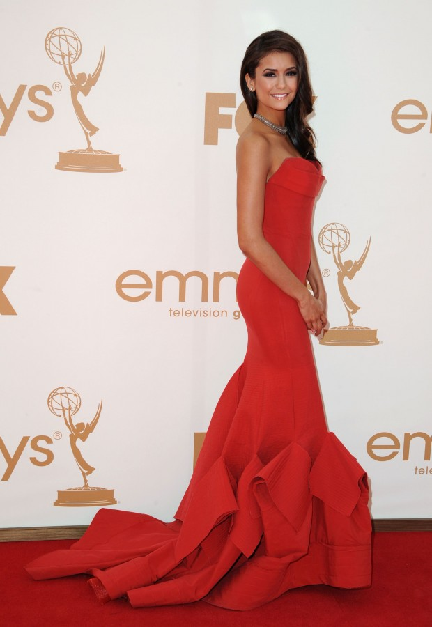 Nina Dobrev - 2011 Emmy Awards-08