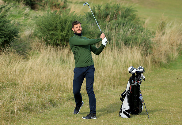 during the third round of the 2015 Alfred Dunhill Links Championship at Kingsbarns on October 3, 2015 in Kingsbarns, Scotland.
