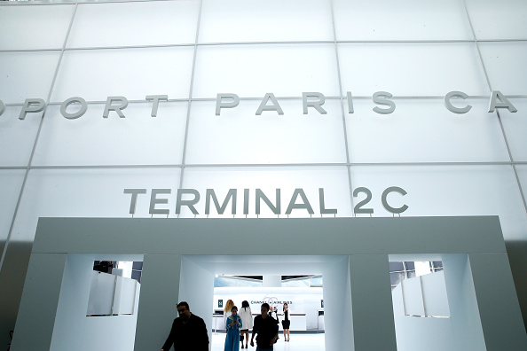 """PARIS, FRANCE – OCTOBER 06:  Illustration view of the """"Chanel Airport"""" during the Chanel show as part of the Paris Fashion Week Womenswear Spring/Summer 2016 on October 6, 2015 in Paris, France.  (Photo by Rindoff/Le Segretain/Getty Images)"""
