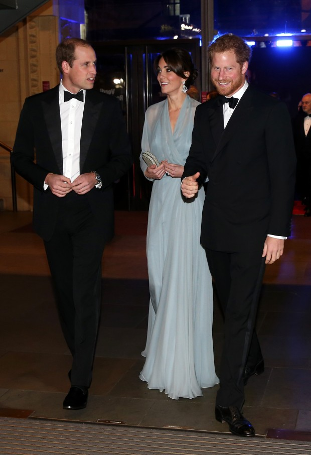 """attends The Cinema and Television Benevolent Fund's Royal Film Performance 2015 of the 24th James Bond Adventure, """"Spectre"""" at Royal Albert Hall on October 26, 2015 in London, England."""