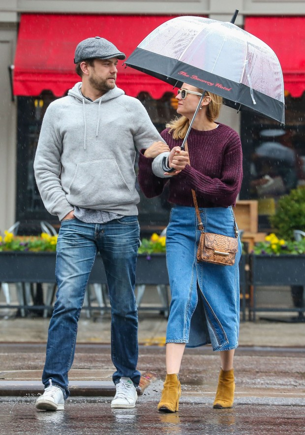 Diane Kruger & Josh Jackson Brave The Rain In NYC