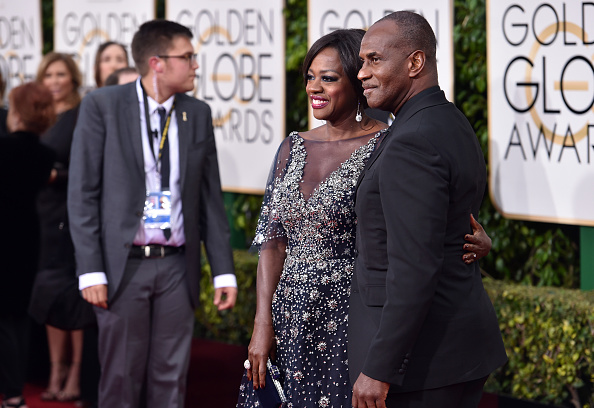 BEVERLY HILLS, CA – JANUARY 10:  Actress Viola Davis (L) and Julius Tennon attend the 73rd Annual Golden Globe Awards held at the Beverly Hilton Hotel on January 10, 2016 in Beverly Hills, California.  (Photo by John Shearer/Getty Images)