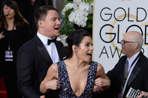73rd ANNUAL GOLDEN GLOBE AWARDS — Pictured: (l-r) arrive to the 73rd Annual Golden Globe Awards held at the Beverly Hilton Hotel on January 10, 2016.