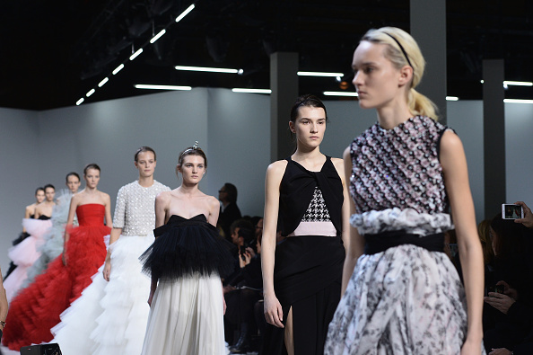 PARIS, FRANCE – JANUARY 25:  Models walk the runway during the Giambattista Valli Haute Couture Spring Summer 2016 show as part of Paris Fashion Week on January 25, 2016 in Paris, France.  (Photo by Dominique Charriau/WireImage)
