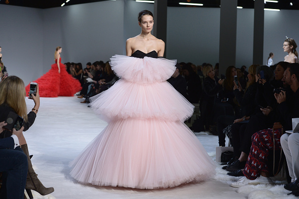 PARIS, FRANCE – JANUARY 25:  A model walks the runway during the Giambattista Valli Haute Couture Spring Summer 2016 show as part of Paris Fashion Week on January 25, 2016 in Paris, France.  (Photo by Dominique Charriau/WireImage)