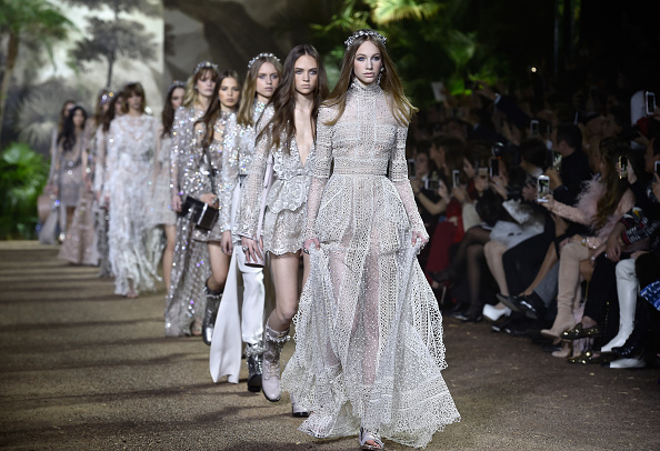PARIS, FRANCE – JANUARY 27:  Models walk the runway during the Elie Saab Spring Summer 2016 show as part of Paris Fashion Week on January 27, 2016 in Paris, France.  (Photo by Pascal Le Segretain/Getty Images)