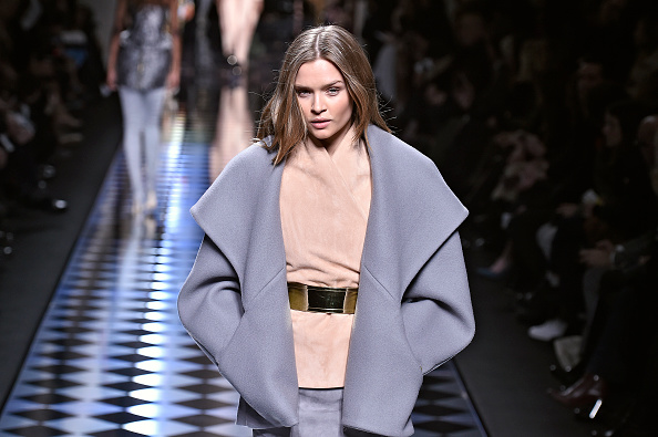 PARIS, FRANCE – MARCH 03:  A model walks the runway at the Balmain Autumn Winter 2016 fashion show during Paris Fashion Week on March 3, 2016 in Paris, France.  (Photo by Catwalking/Getty Images)