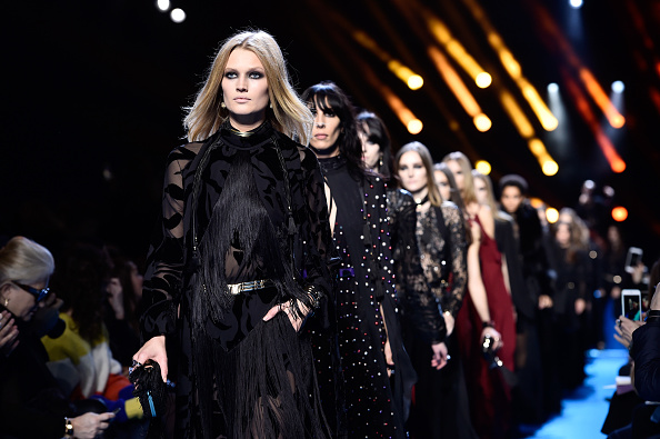 PARIS, FRANCE - MARCH 05: Models walk the runway during the Elie Saab show as part of the Paris Fashion Week Womenswear Fall/Winter 2016/2017 on March 5, 2016 in Paris, France.  (Photo by Pascal Le Segretain/Getty Images)
