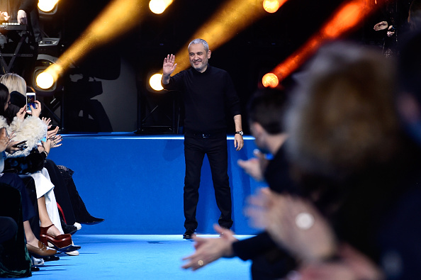 PARIS, FRANCE – MARCH 05:  Desiner Elie Saab poses on the runway during the Elie Saab show as part of the Paris Fashion Week Womenswear Fall/Winter 2016/2017 on March 5, 2016 in Paris, France.  (Photo by Pascal Le Segretain/Getty Images)