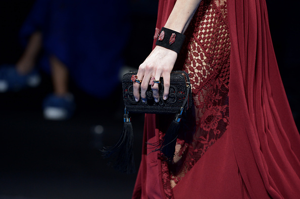A model walks the runway during the Elie Saab  show as part of the Paris Fashion Week Womenswear Fall/Winter 2016/2017 on March 5, 2016 in Paris, France.
