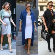 13 Looks da Chrissy Teigen grávida por aí