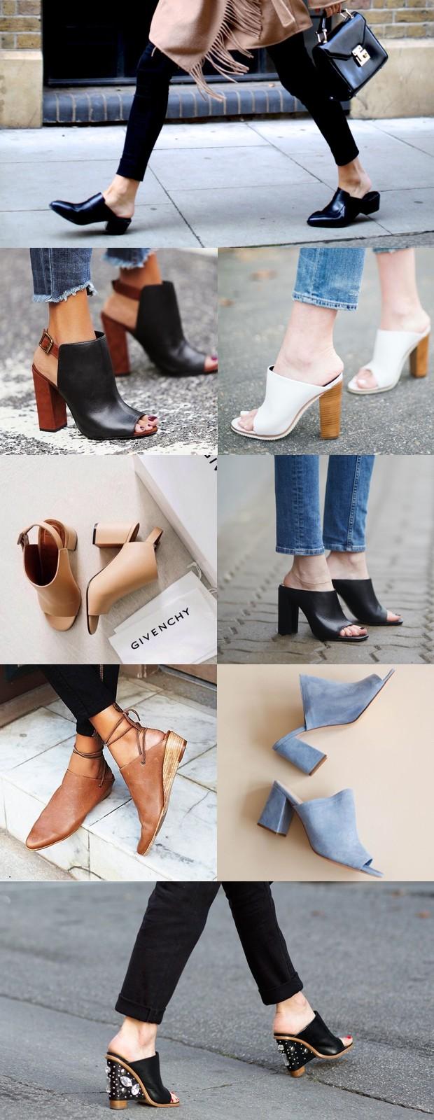 look moda sapato mule 3.001