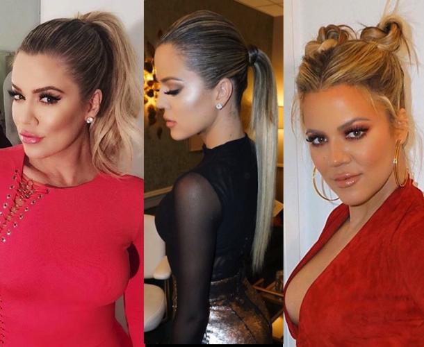 Pra inspirar: Os penteados da Khloé Kardashian