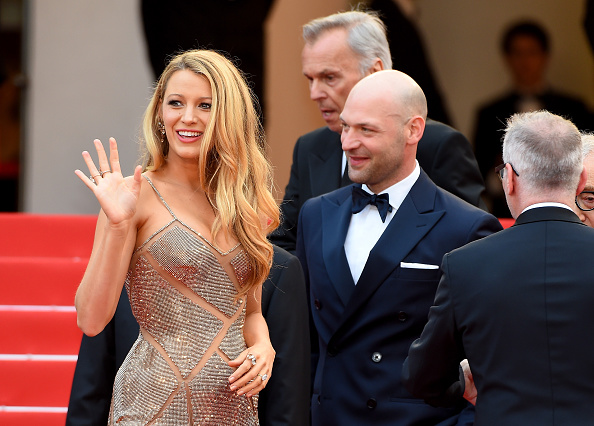 "CANNES, FRANCE – MAY 11:  Blake Lively and Corey Stoll attend the ""Cafe Society"" premiere and the Opening Night Gala during the 69th annual Cannes Film Festival at the Palais des Festivals on May 11, 2016 in Cannes, France.  (Photo by Stephane Cardinale – Corbis/Corbis via Getty Images)"
