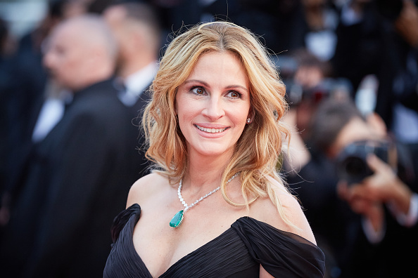 "CANNES, FRANCE – MAY 12: Julia Roberts attends the screening of ""Money Monster"" at the annual 69th Cannes Film Festival at Palais des Festivals on May 12, 2016 in Cannes, France. (Photo by Kristina Nikishina/Epsilon/Getty Images)"