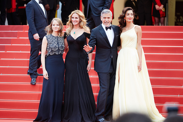 CANNES, FRANCE – MAY 12: Jodie Foster, actors Julia Roberts, George Clooney and his wife Amal Clooney attend the 'Money Monster' premiere during the 69th annual Cannes Film Festival at the Palais des Festivals on May 12, 2016 in Cannes, France. (Photo by Kristina Nikishina/Epsilon/Getty Images)