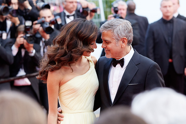"CANNES, FRANCE – MAY 12: Amal Clooney and George Clooney attend the screening of ""Money Monster"" at the annual 69th Cannes Film Festival at Palais des Festivals on May 12, 2016 in Cannes, France. (Photo by Kristina Nikishina/Epsilon/Getty Images)"