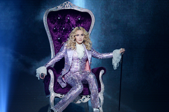 LAS VEGAS, NV – MAY 22:  Recording artist Madonna performs a tribute to Prince onstage during the 2016 Billboard Music Awards at T-Mobile Arena on May 22, 2016 in Las Vegas, Nevada.  (Photo by Kevin Winter/Getty Images)