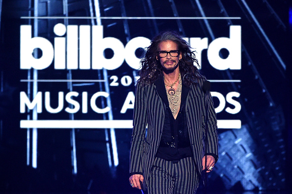 LAS VEGAS, NV – MAY 22:  Singer Steven Tyler speaks onstage during the 2016 Billboard Music Awards at T-Mobile Arena on May 22, 2016 in Las Vegas, Nevada.  (Photo by Kevin Winter/Getty Images)