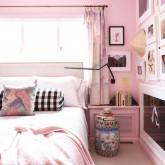 Um quarto rosa com certeza