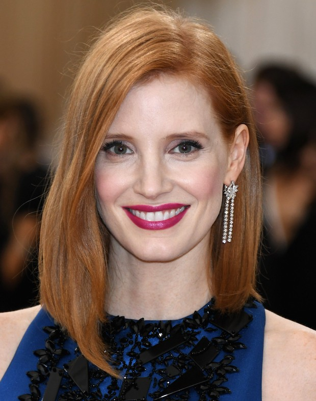 """NEW YORK, NY – MAY 02:  Jessica Chastain attends the """"Manus x Machina: Fashion In An Age Of Technology"""" Costume Institute Gala at Metropolitan Museum of Art on May 2, 2016 in New York City.  (Photo by Larry Busacca/Getty Images)"""