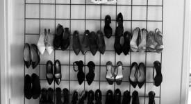 Organizando os sapatos